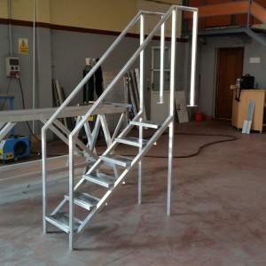 escalera de aluminio soldado