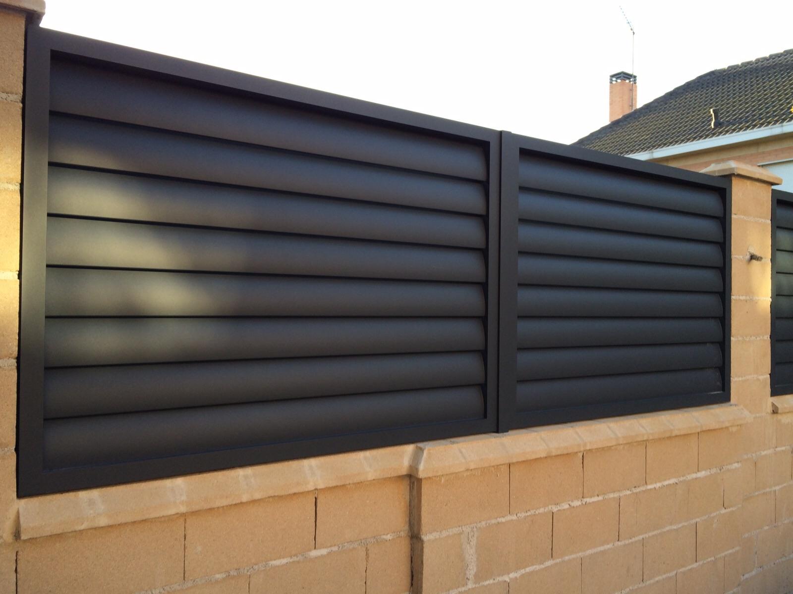 Valla de aluminio soldado modelo torrej n patentado - Puertas de valla ...