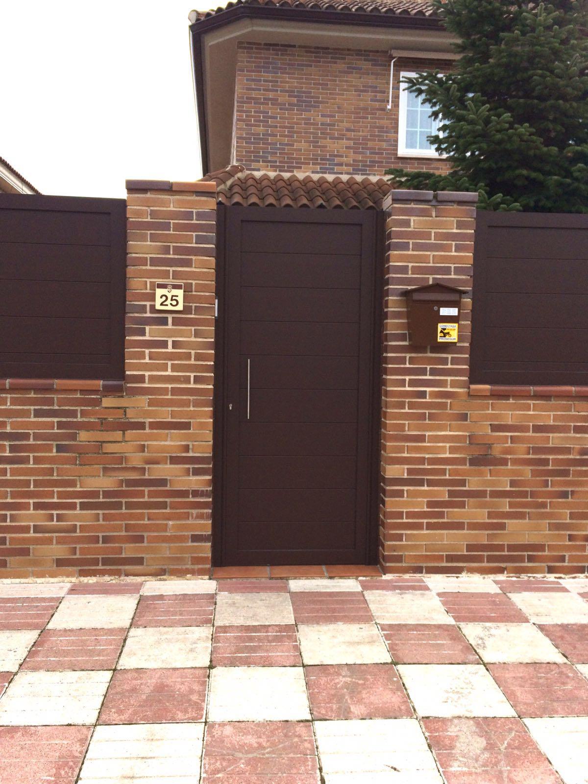 Puertas de aluminio para exterior modelo gri on - Modelo de puertas de aluminio ...