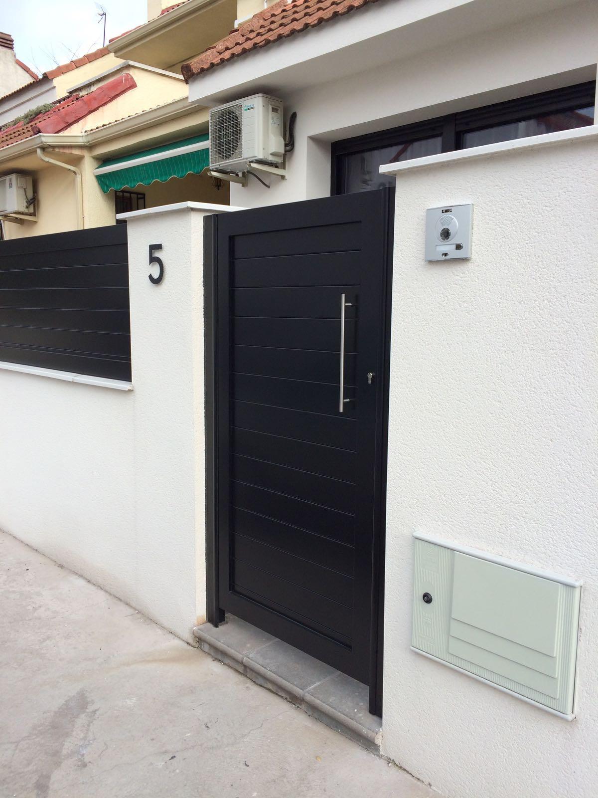 Puertas de aluminio para exterior de marver aluminio - Modelos de puertas de aluminio para exterior ...