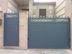 Puertas de aluminio para exterior grupo marver - Puertas de entrada metalicas precios ...