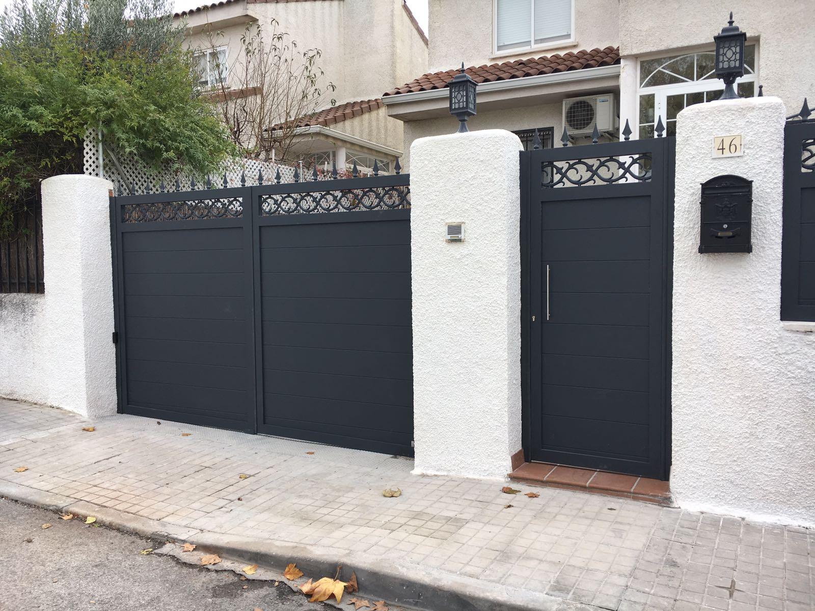 Puertas de forja exterior puerta de forja modelo pfml puertas de fierro para el exterior con - Puertas forja exterior ...