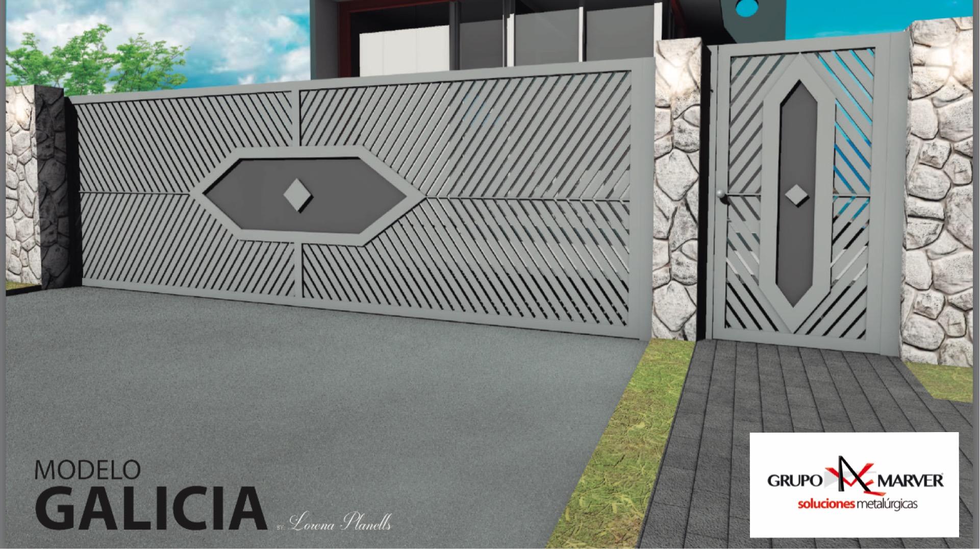 Grupo marver puertas de aluminio soldado patentadas - Cierres de fincas en galicia ...