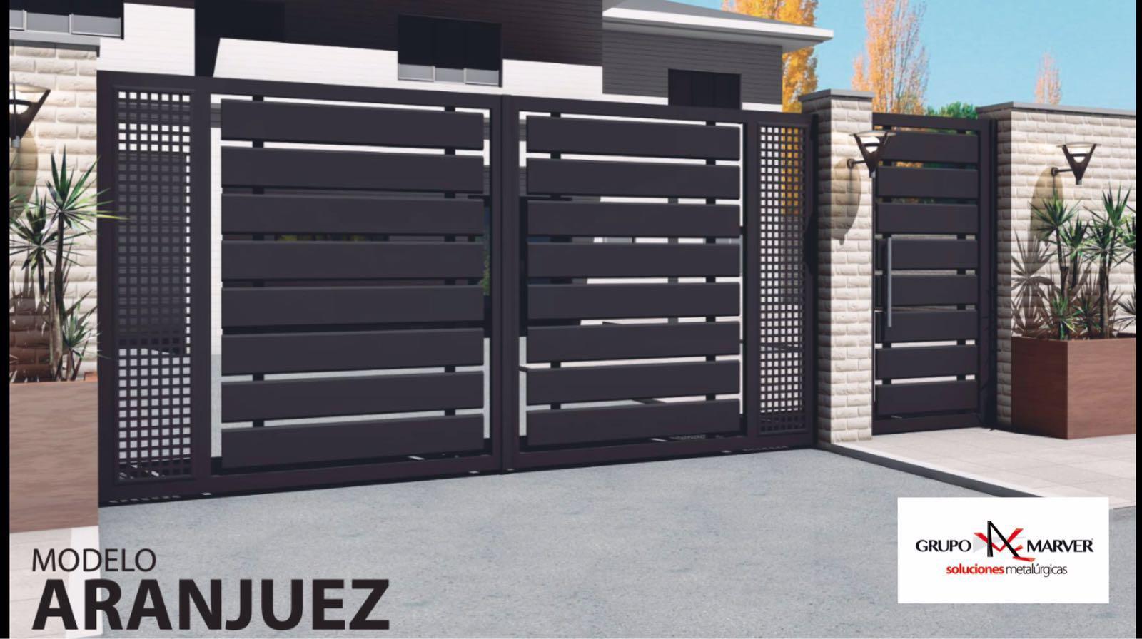 Grupo marver puertas de aluminio soldado patentadas for Rejas para puertas exteriores modernas